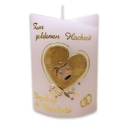 Goldene Hochzeit Gh401 Kerzenshop Friebe
